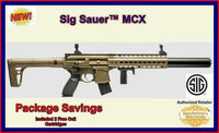Sig Sauer MCX FDE Semi Automatic Pellet Air Rifle, Package W/ Free Co2 SAVE