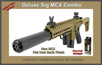 Sig Sauer MCX  Air Rifle, in Flat Dark Earth,  Package inc. Free Co2 SAVE