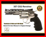 357 Pellet and BB Revolver Chrome Co2 version of 56 DB Wessons Colt