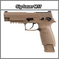 Sig Sauer M17 P320 ASP CO2 Pellet Tan Air Pistol, .177 Cal AIR-M17-177