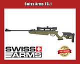 Two Hunting Rifles by Swiss Arms | Break Barrel |  4x40 Scopes -Dk Green