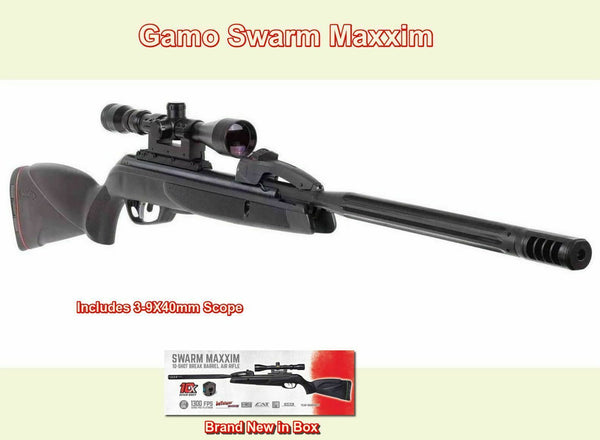 Gamo Swarm Maxxim .177 10-shot Break Barrel w/3-9X40mm Scope Air Rifle
