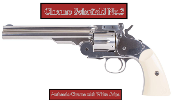 Collectors Schofield No.3 Revolver - Limited Editions - With White Grips