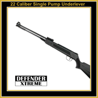 22 Caliber Defender Air Rifle Single Pump Under lever Action