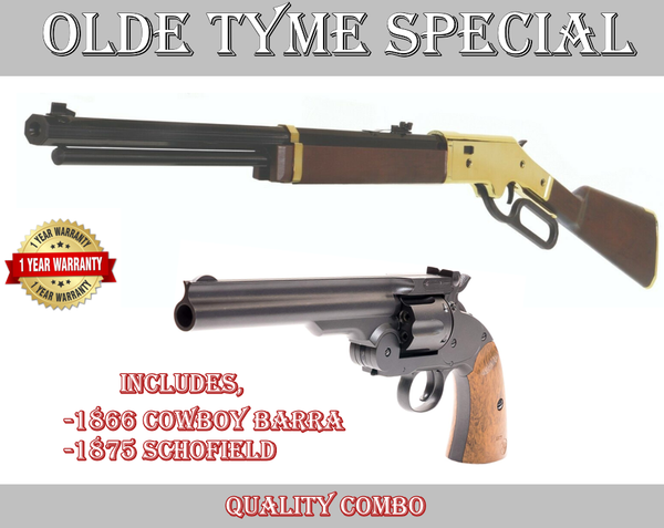 Historic Two gun Combo Schofield No. 3 and 1866 Cowboy Lever Action
