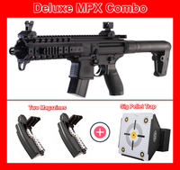 Sig Sauer MPX Deluxe Combo Rifle, Two Magazines and Pellet Trap
