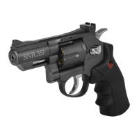 SNR357 Crosman  Co2 Dual Ammo Pellet Revolver Air gun Pistol, Grey Metal
