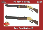 2x Saving Barra 1866 Cowboy  Lever Action Multi Pump BB | Pellet Air Rifle