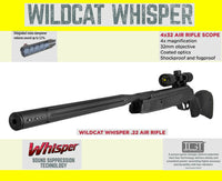 Gamo Wildcat Whisper .22 Cal. Air Rifle with Scope, Silenced, 46% Savings⭐⭐⭐⭐⭐