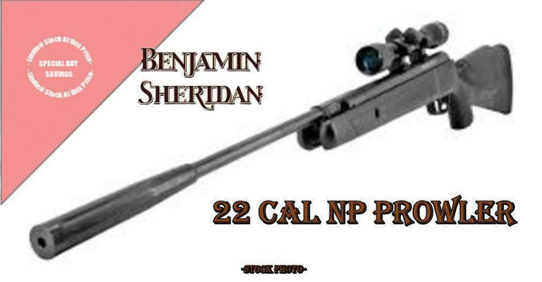 ⭐ Benjamin Nitro Piston Powered Prowler Air Rifle .22 cal Pellets w\ 4x32 Scope