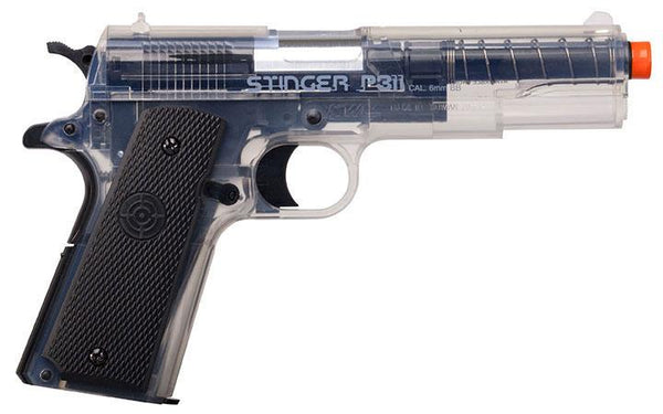 Crosman Stinger P311 (clear- Black)spring Powered Single Shot Military Style Pistol