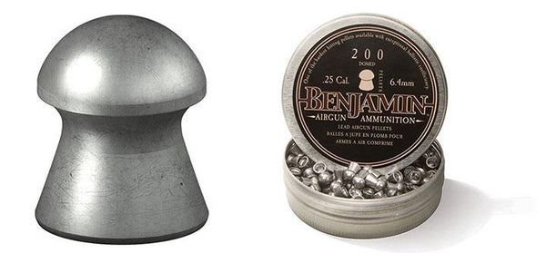 Benjamin Domed Pellet.25 Caliber 27.9 Grain 200 Count