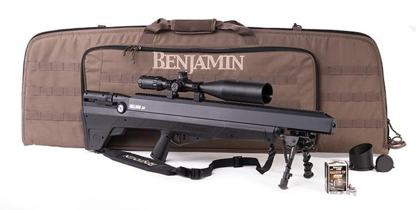 Benjamin Bulldog Value Pack (black) Air Rifle With 4-16x56 Scope Benjamin Case 25 Ct Ammo Sling