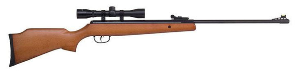 Crosman Optimus (wood)spring Powered Break Barrel Air Rifle With 4x32 Scope
