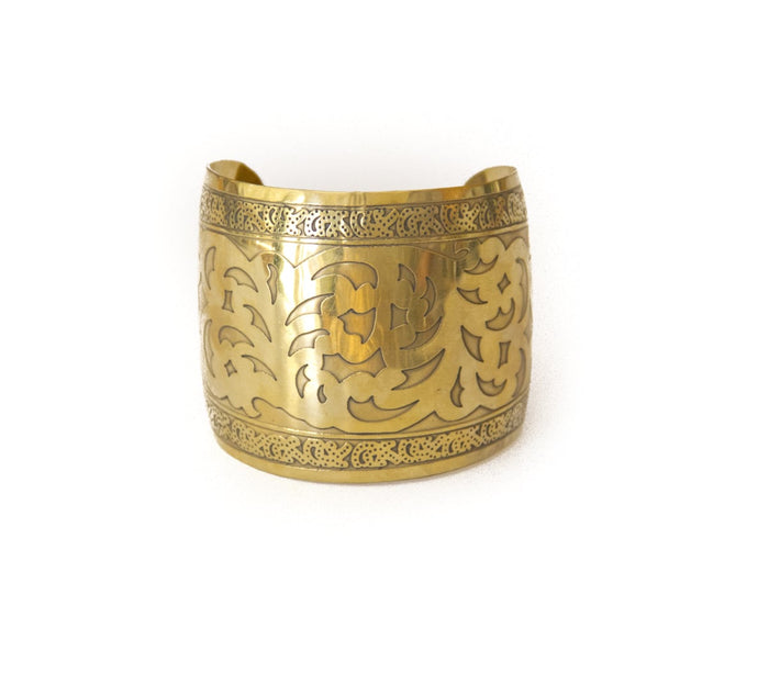Raised Brass Cuff
