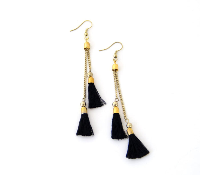 Kaden Black Earrings