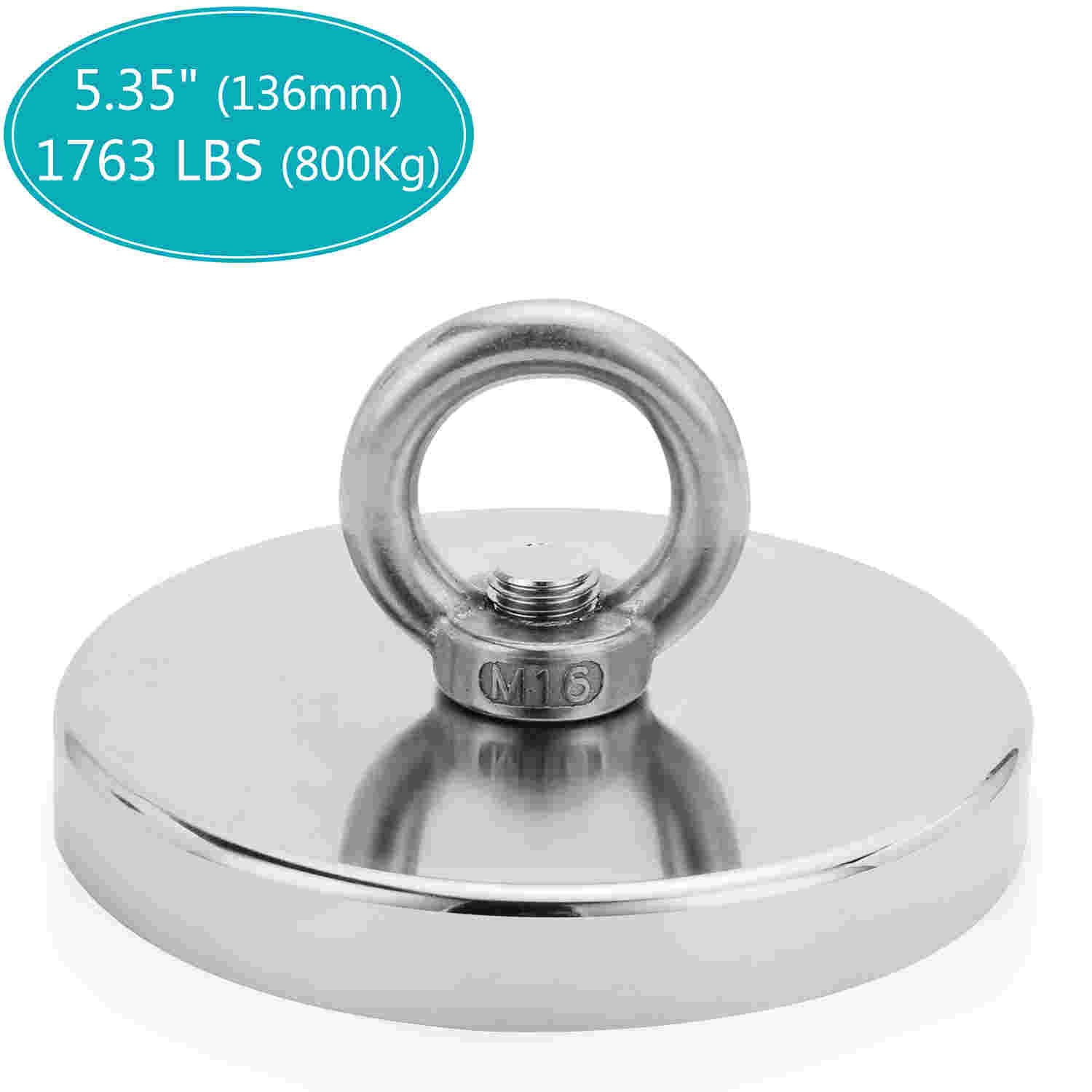 Powerful Round Neodymium Magnet With Countersunk Hole And Eyebolt Home Tools S