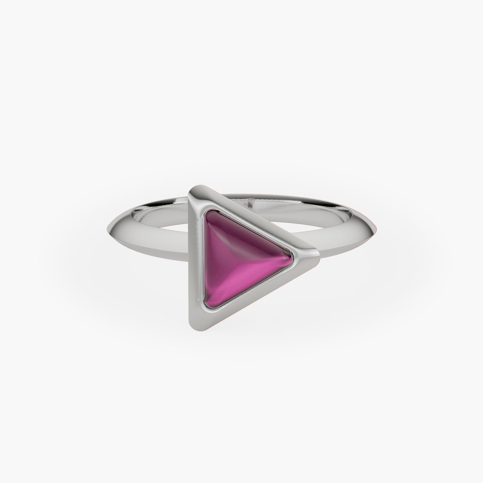 Ring Be The One Gem White Gold Pink Garnet