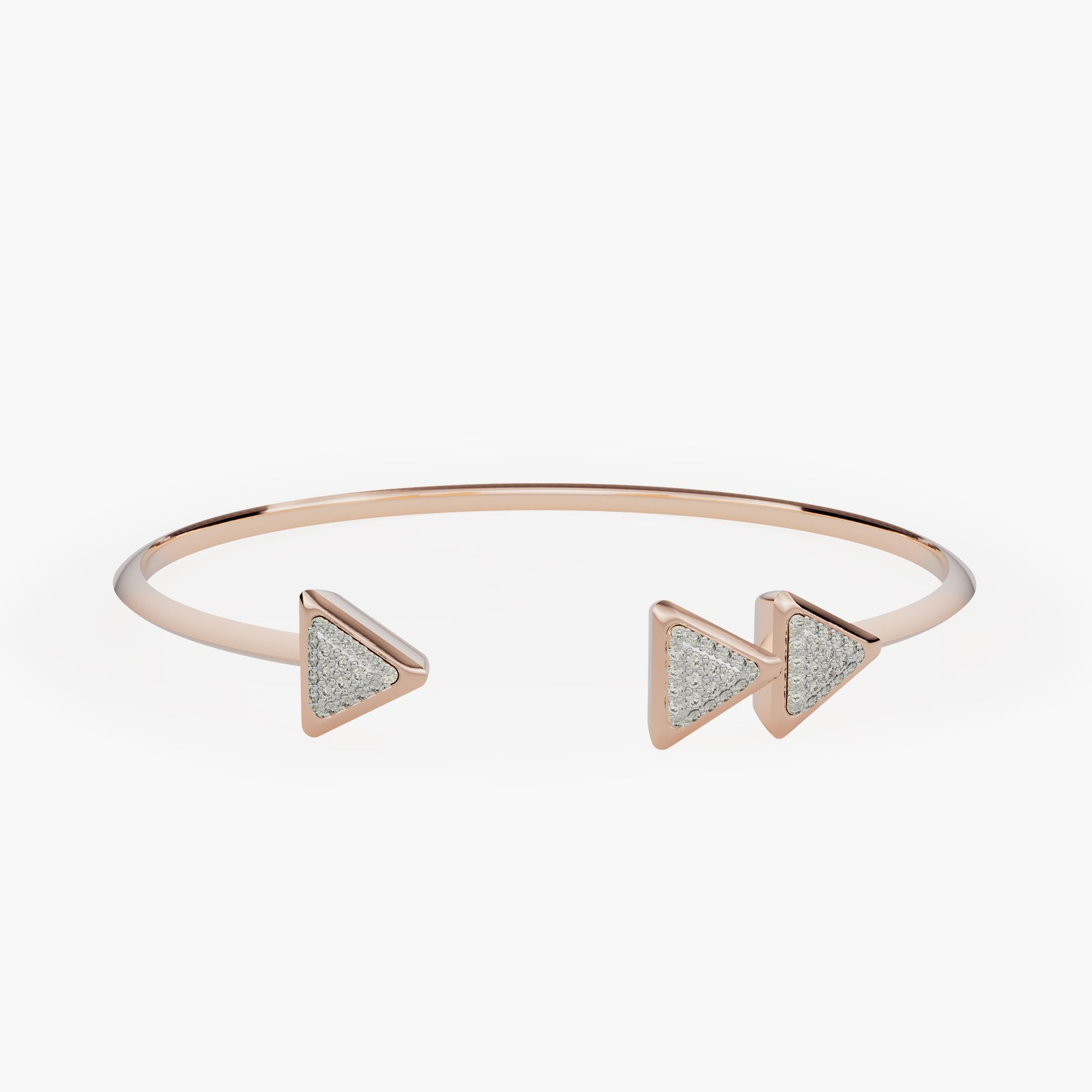 Bracelet Anniversary Dove Vai Forward Rose Gold Full Diamonds Pavé
