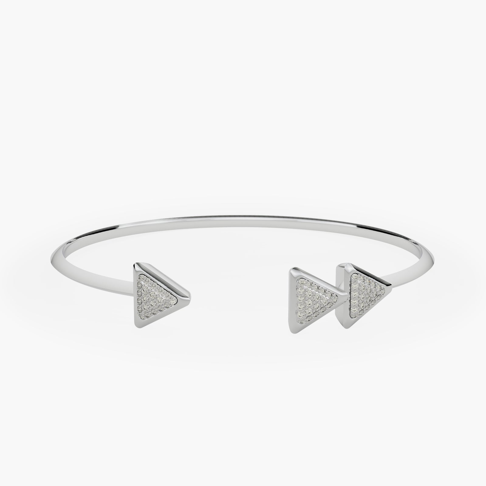 Bracelet Anniversary Dove Vai Forward White Gold Full Diamonds Pavé