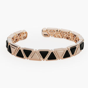 Bracelet Cuff Mirror Gem Rose Gold Onix