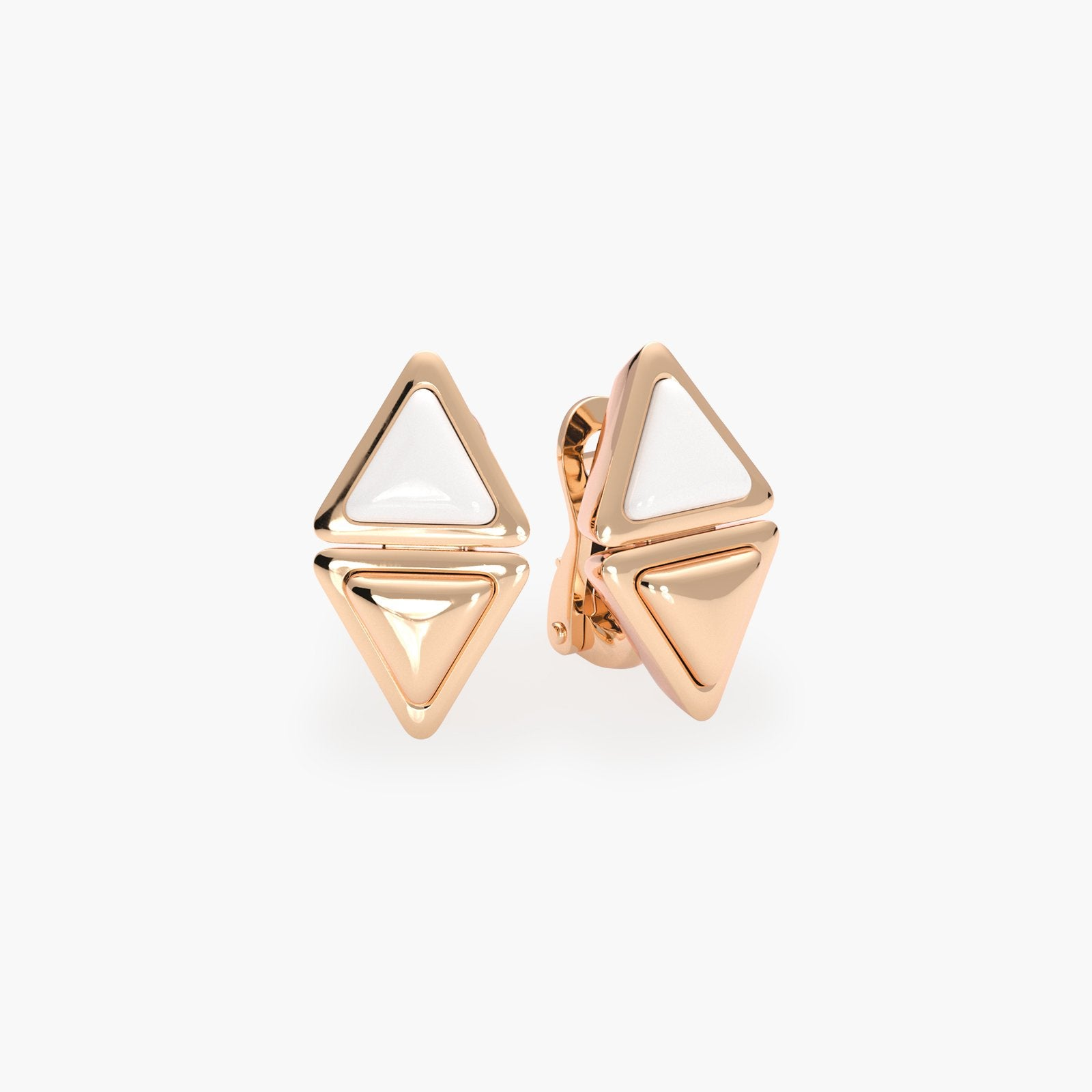 Earrings Short Mirror Gem Rose Gold Kogolong