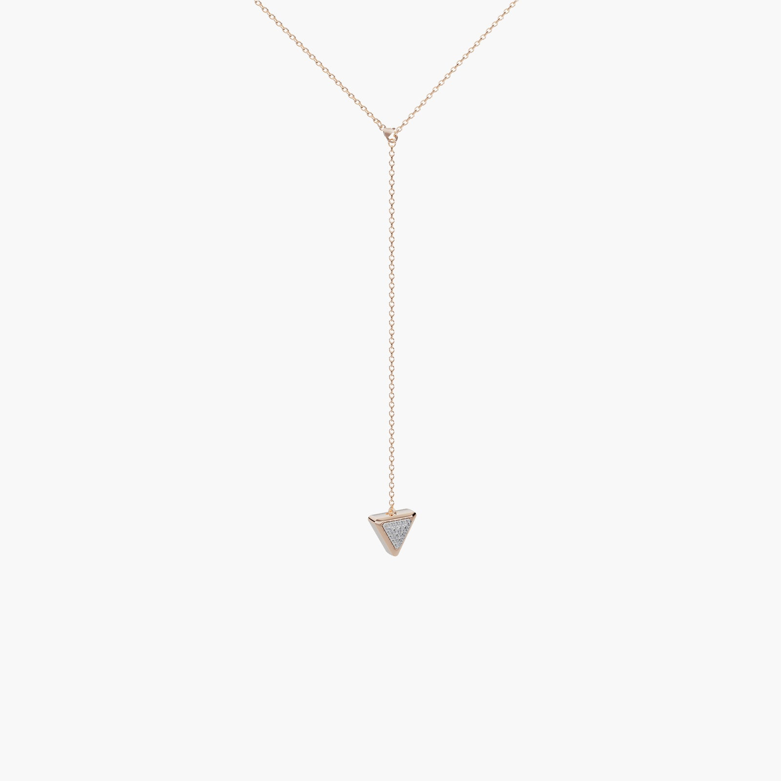 Necklace One Mirror Exquisite Rose Gold Onix and Diamonds