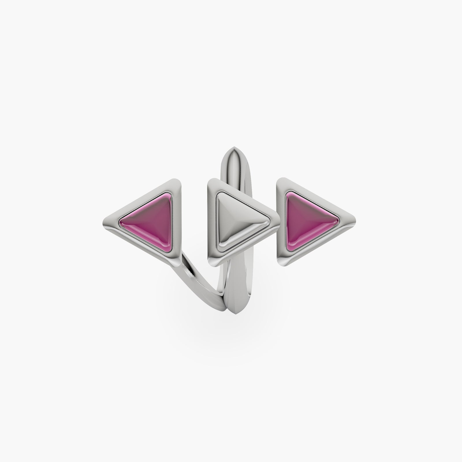 Ring Dove Vai Rewind Gem White Gold Pink Garnet