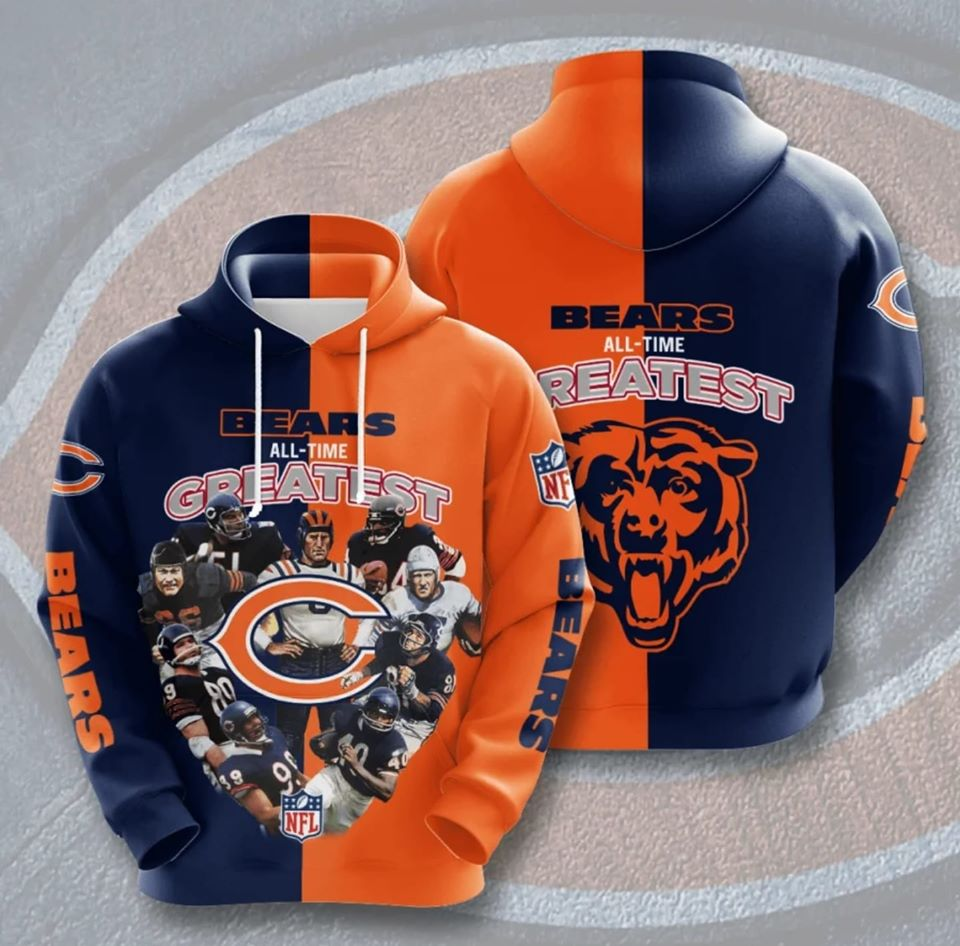 Chicago Bears All-Time Greatest Hoodie