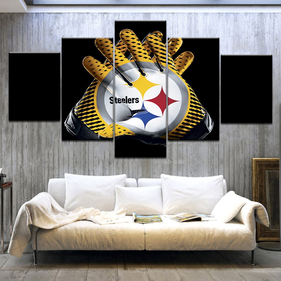 Pittsburgh Steelers HD Printed Gloves Modern Home Decor