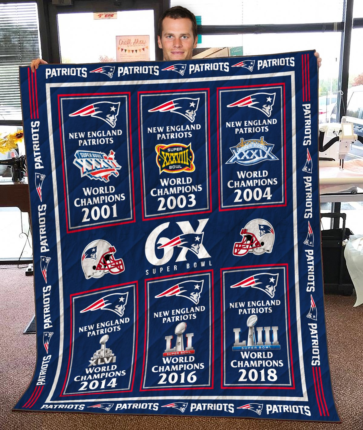 New England Patriots Champs Blanket