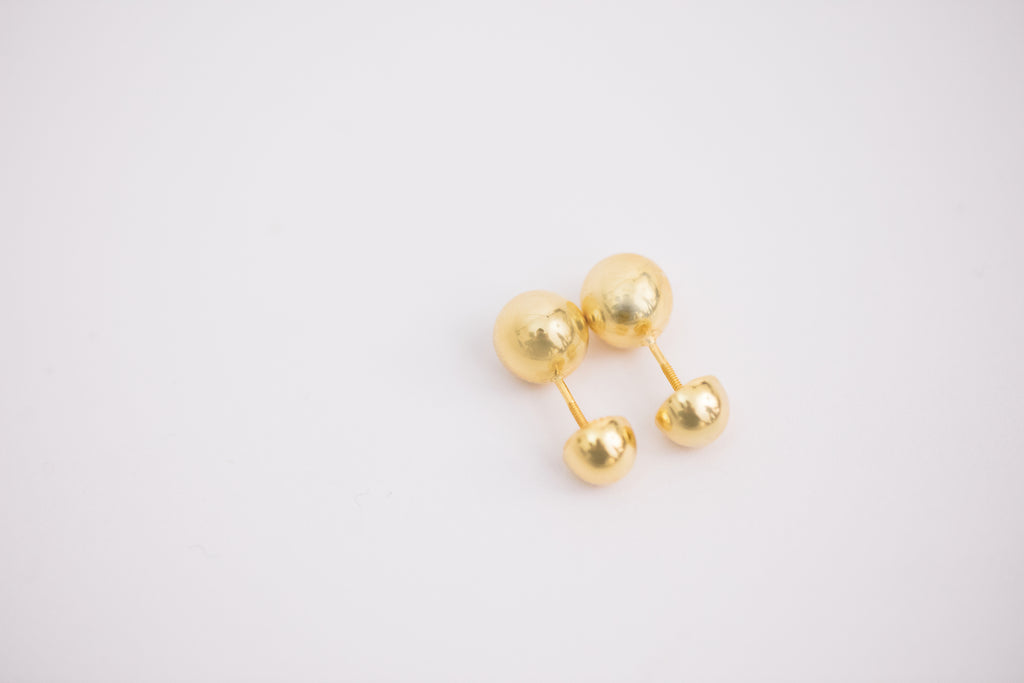 Golden Bead Earring / Brooch, Big