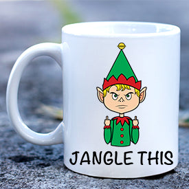 Elf Jangle This Finger Mug