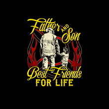 Load image into Gallery viewer, Firefighter Dad Son T Shirt