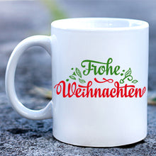 Load image into Gallery viewer, German Merry Christmas Mug Frohe Weihnacht Mug