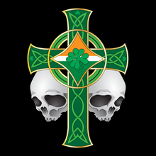 Load image into Gallery viewer, Irish Celtic Skulls Cross T Shirt