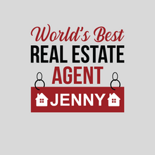 Load image into Gallery viewer, Personalized Real Estate Agent T Shirt