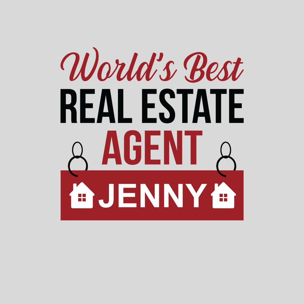 Personalized Real Estate Agent T Shirt
