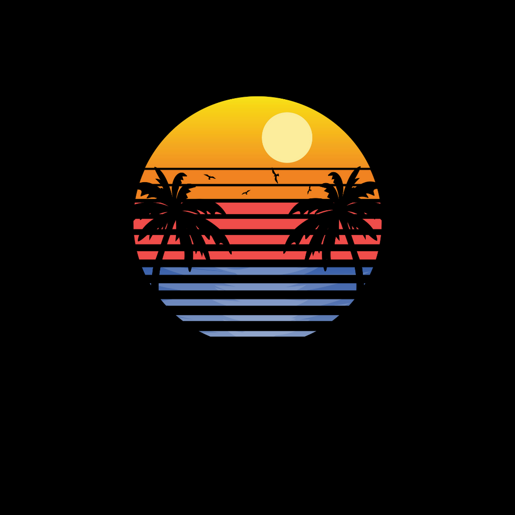 Retro Sunset T Shirt