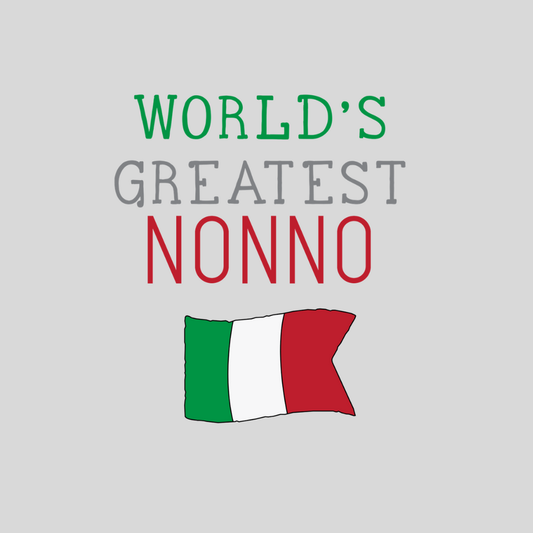 World's Greatest Nonno Italy T Shirt