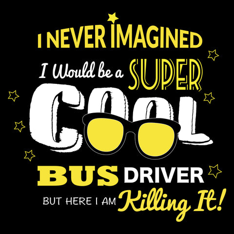 Cool Bus Driver T Shirt