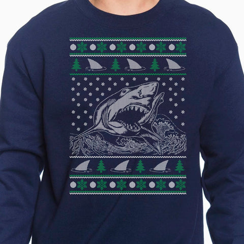Shark Ugly Sweater - Shark Ugly Christmas