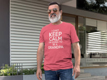 Load image into Gallery viewer, Can't Keep Calm Going to be a Grandpa T Shirt