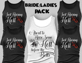 Bridesmaid Shirts Pack of 5- Party Tee