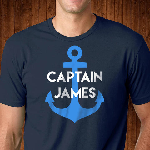 Personalized Captain Shirt - Sailing Dad