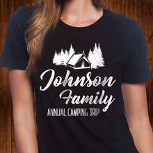 Load image into Gallery viewer, Personalized Family Camping T Shirt