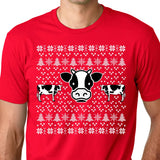 Cow Ugly Christmas Shirt / Holiday t shirt / Cow Ugly T Shirt / Funny Christmas Tee / Christmas T Shirt / Funny Cow Shirt