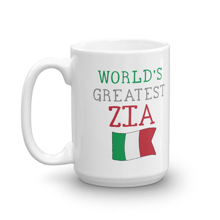 World's Greatest Zia Mug -  Aunt Mug Gift