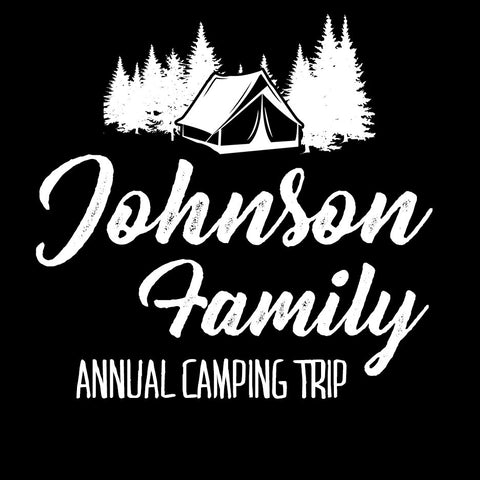 Personalized Family Camping T Shirt