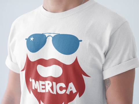 Patriotic Beard Shirt-Red Beard Shirt